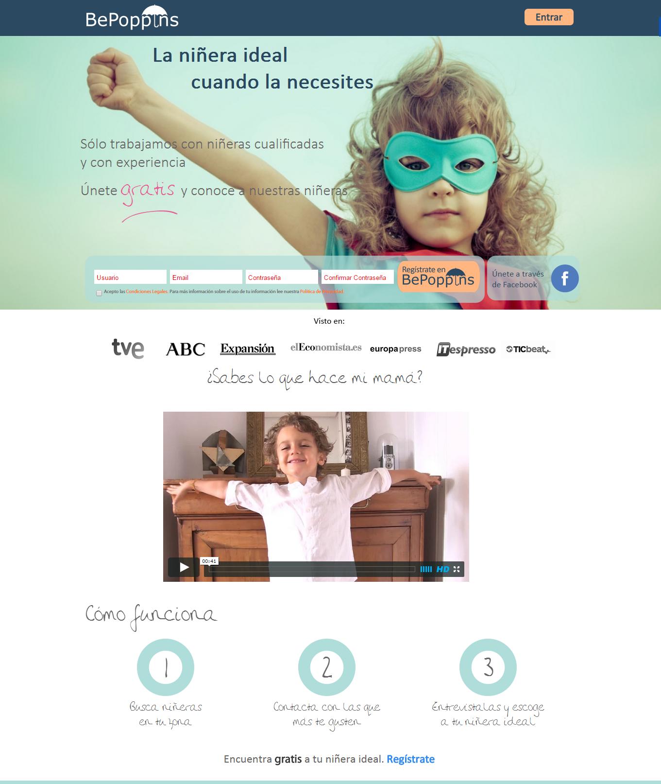 Spanish wordpress nanny website